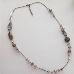 Jewelry - Necklace with Multi Beads and Chain in Smoky Topaz